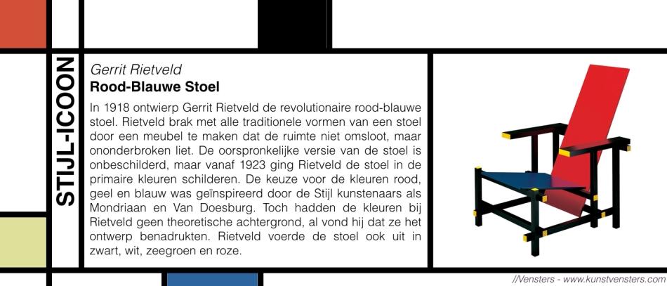 Stijl Icoon - Rood-Blauwe Stoel - Gerrit Rietveld
