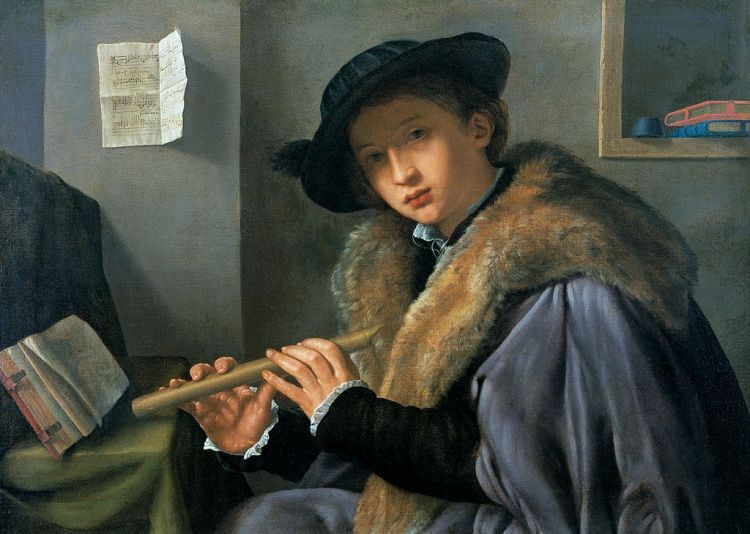 Giovanni Girolamo Savoldo - Man met Fluit