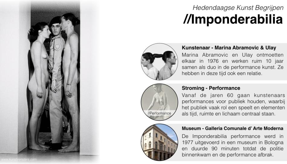 Hedendaagse kunst begrijpen - Imponderabilia - Marina Abramovic Ulay