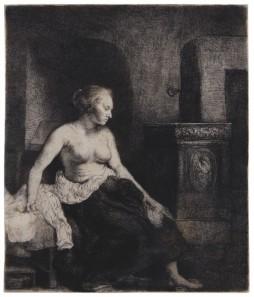 Rembrandt van Rijn - Half naakte vrouw