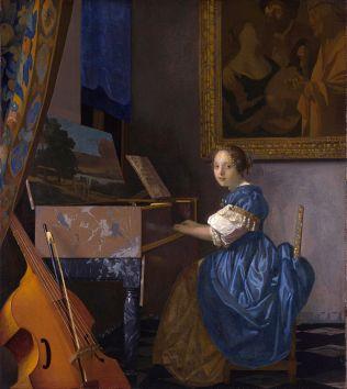 Johannes Vermeer - Zittende Virginaalspeelster