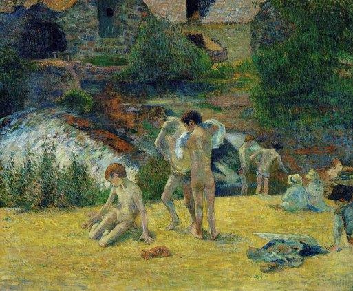 Paul Gauguin - Jeunes bretons au bain