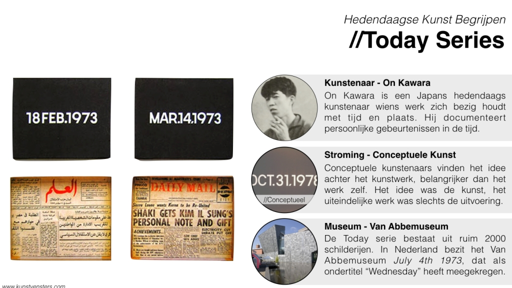 Hedendaagse Kunst - On Kawara - Today Series
