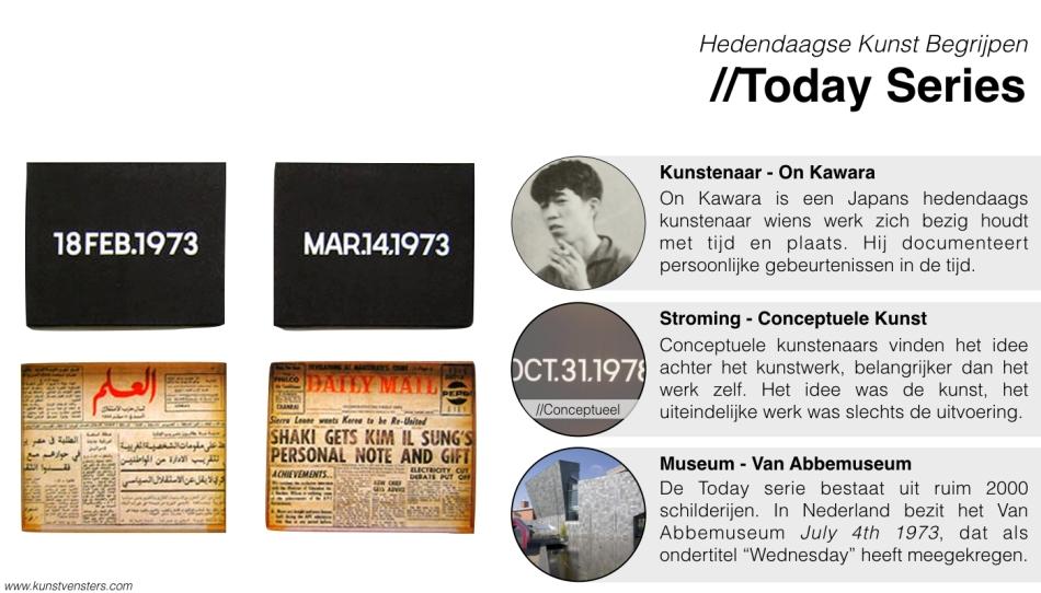 Hedendaagse Kunst - On Kawara - Today Series