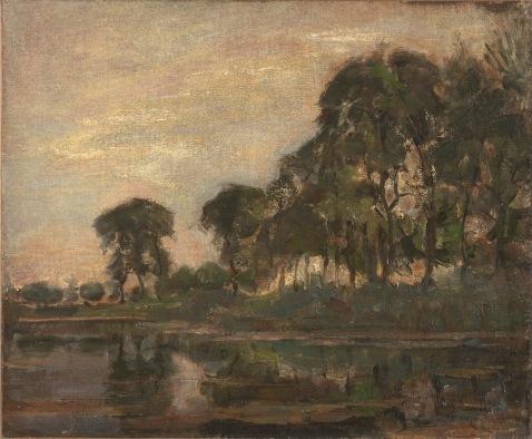 Piet Mondriaan - Bomen langs het Gein