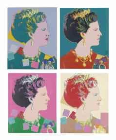 Andy Warhol - Koningin Margrethe van Denemarken