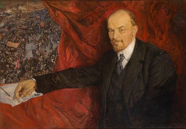 Isaak Brodsky - Lenin en een Manifestatie