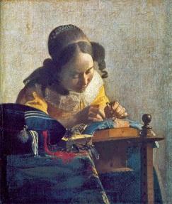 Johannes Vermeer - de Kantwerkster