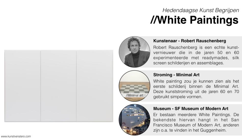White Paintings - Robert Rauschenberg