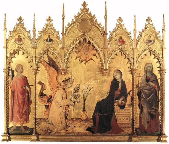 Simone Martini & Lippo Memmi - Annunciatie