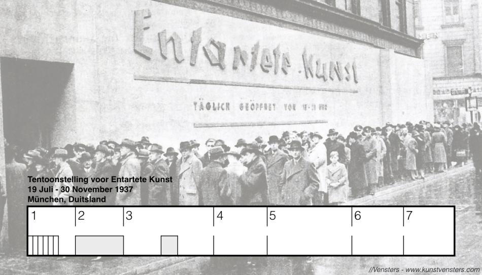 Tentoonstelling voor Entartete Kunst, München, 1937
