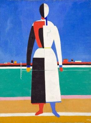 Kazimir Malevich - Vrouw met Hark (na de revolutie)