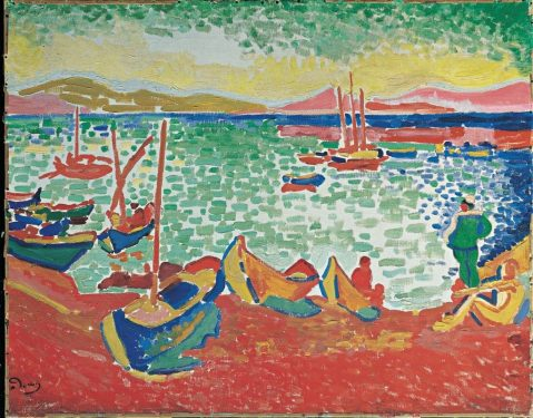 André Derain - Bateaux dans le port de Collioure
