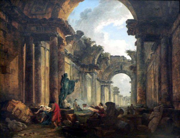 Hubert Robert - Ruïne van het Louvre