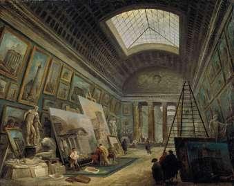Hubert Robert - Galerie in een Museum