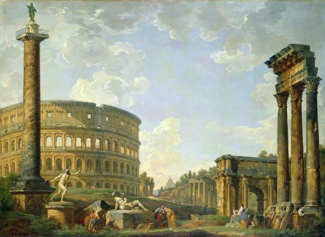 Giovanni Paolo Panini - Colosseum en andere monumenten