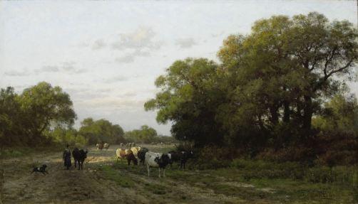 Julius Jacobus van de Sande Bakhuysen - Landschap in Drenthe