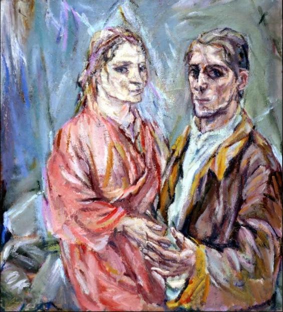 Oskar Kokoschka - Zelfportret met Alma Mahler