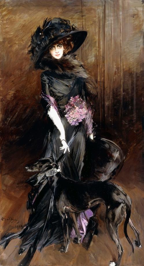 Giovanni Boldini - Marchesa Luisa Casati met een Windhond