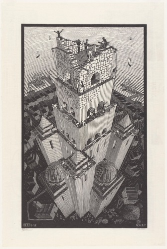 Toren van Babel (1928), M.C. Escher © the M.C. Escher Company B.V. All rights reserved. www.mcescher.com