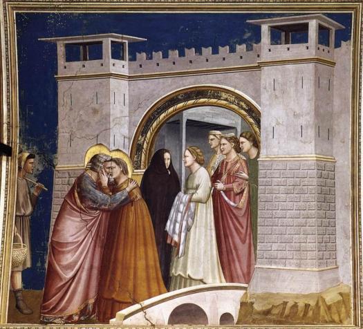 Giotto - de Ontmoeting bij de Gouden Poort