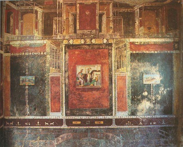 Fresco's in het Huis van Marcus Lucretius