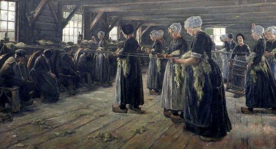 Max Liebermann - de Wolweverij te Laren