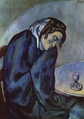 Pablo Picasso - de absinth drinker