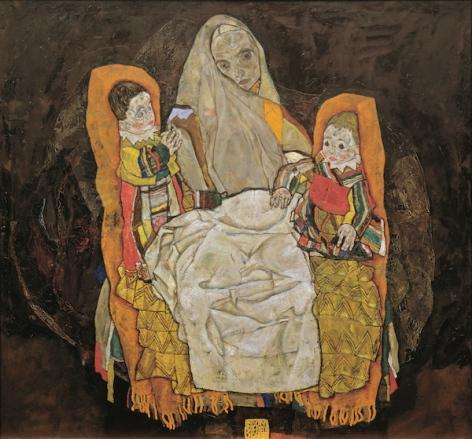 Egon Schiele - Moeder en kinderen