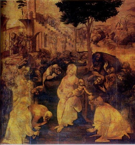 Leonardo da Vinci - Aanbidding door de Wijzen