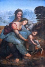 Leonardo da Vinci - Madonna met Kind en St Anna