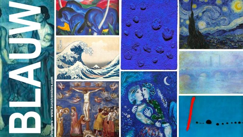 Blauw in de Kunst