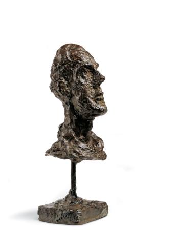 Alberto Giacometti - Tête de Diégo au col roulé, 1951-52