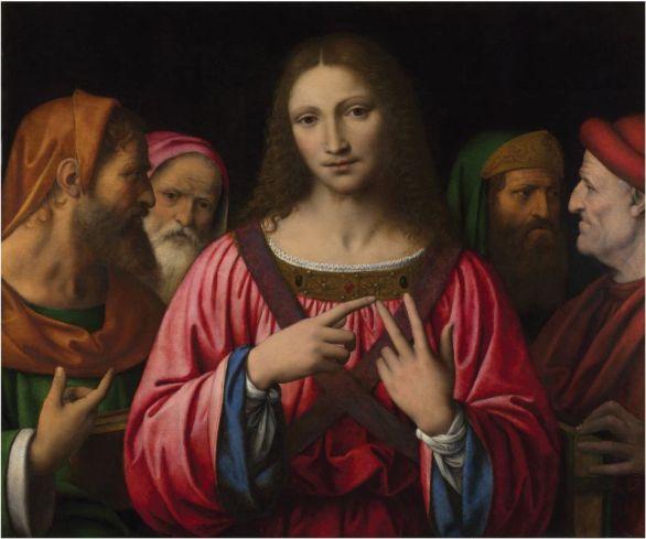 Bernardino Luini - Christus tussen de geleerden