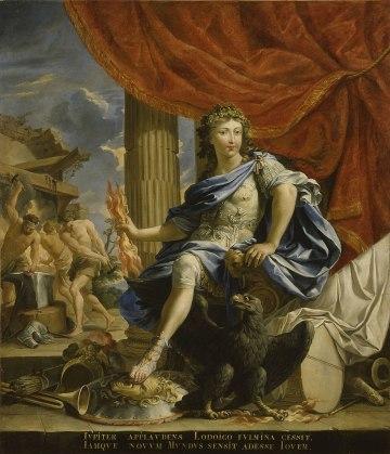 Charles Poerson - Lodewijk XIV als Jupiter