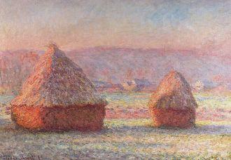 Claude Monet - Hooibergen