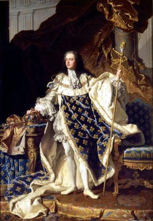 Hyacinthe Rigaud - Lodewijk XV (18 jaar)