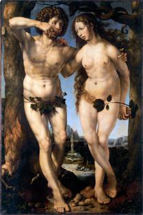 Jan Gossaert - Adam en Eva