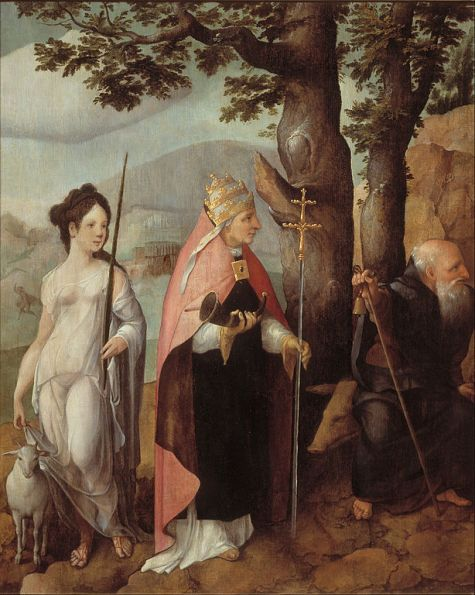 Jan van Scorel - Binnenkomst van Jezus in Jeruzalem
