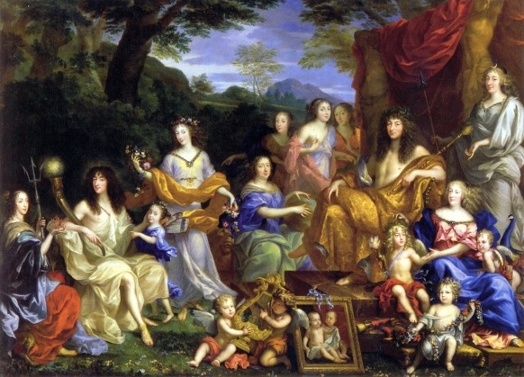 Jean Nocret - Mythische voorstelling van de koninklijke familie