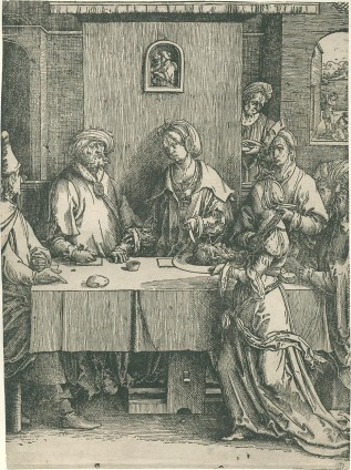 Lucas van Leyden - Onthoofding van Johannes de Doper