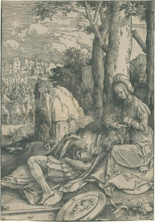 Lucas van Leyden - Samson en Delilah