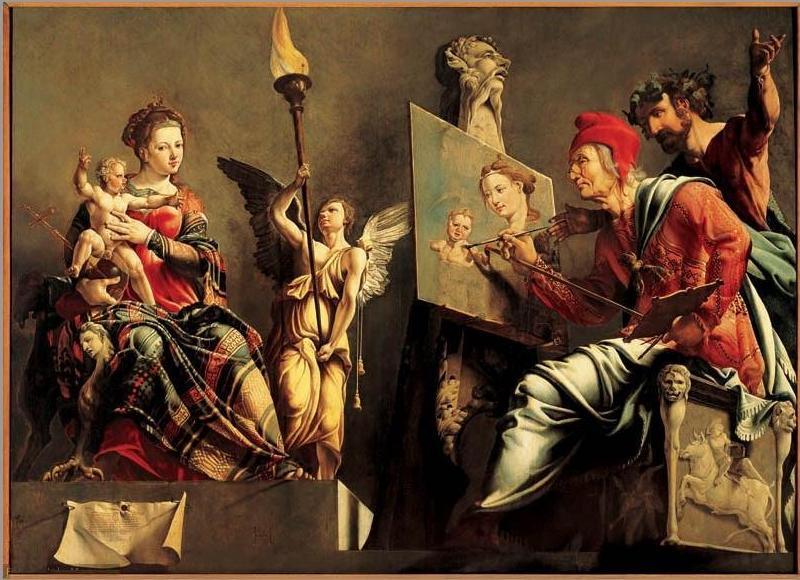 Maerten van Heemskerck - St. Lucas schildert de Madonna