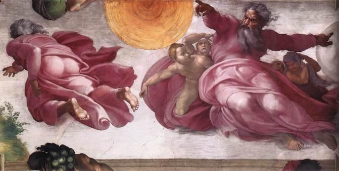 Michelangelo - Creatie van de Zon, Maan en Planeten
