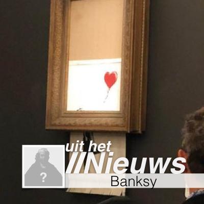 Vernietigd werk Banksy Sotheby's