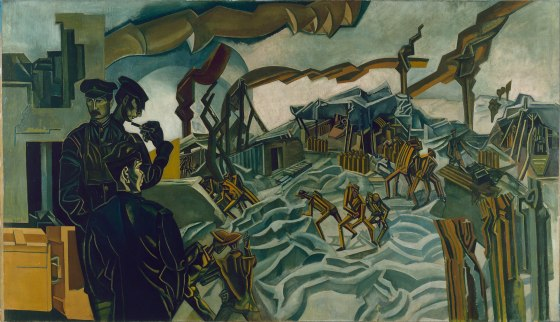 Wyndham Lewis - A Battery Shelled