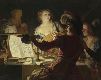 Gerard van Honthorst - de Liederlijke Student