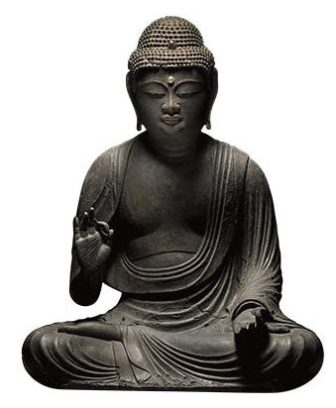 Amida Buddha (11th–12th century), Japan. Gregg Baker Asian Art.