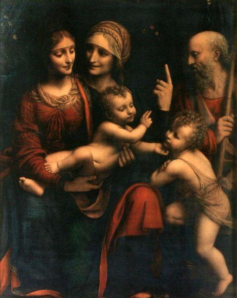Bernardo Luini - Maria met Christus, St Anna en Johannes de Doper
