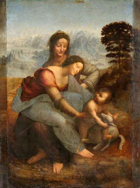 Leonardo da Vinci - Maria met Kind en St. Anna